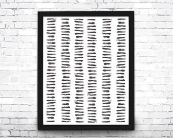 Brush Stroke Wall Art, Minimalist Art Print, Modern Art, Home Decor, Abstract Wall Art, Brush Stroke Art, Black and White Art, Brush Strokes