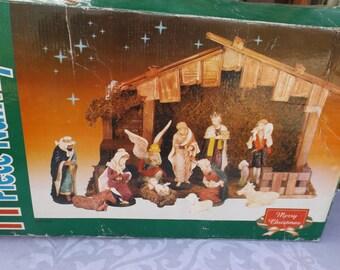 Old Nativity Set Etsy