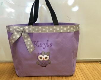 Personalized Girl Owl Tote Baby Diaper Bag