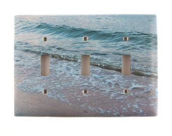 Ocean Waves, Light Switch Plates, Triple Toggle