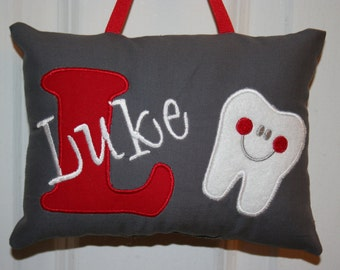 Tooth Fairy Pillow for Boys - Personalized - Tooth Chart - Tooth Fairy