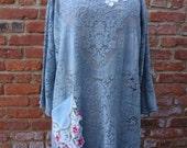Lace Tunic,Boho Tunic,Shabby Chic Tunic,Quaker Lace Tunic, by Nine Muses Of Crete