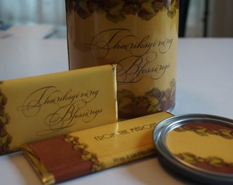 Thanksgiving Guest Favors, Thanksgiving Guest Gift, friendsgiving Host Gift Set, Personalized falliday Gift Set.Thanksgiving table favors