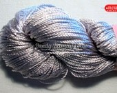 "Summer yarn sparkle. Lurex, glitter, poliamide, sleek yarn in dark silver color. Yarn ""Bliasyk"". C. 13"