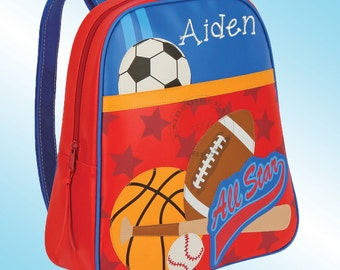 Backpack - Personalized and Embroidered - Go Go Bag - SPORTS