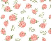 Design Your Own - Coral Pink, Green Watercolor Peonies Floral  - changing pad cover, rail covers, boppy covers, sheets, skirt, bumpers