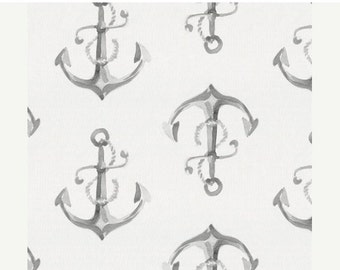 Spooktacular SALE 10% OFF Design Your Own Nautical Nursery  - Watercolor Sailboats, Anchors and Lifesavers in Grey and Blue  Choose your Pri