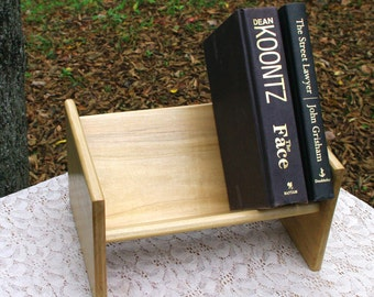The BlackWater Book Rack - Silver Maple Book Rack from BlackWater Workshops