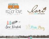 Custom Logo design - Custom Logos and watermarks - Branding Package - Custom Photography logo -  complete logo branding