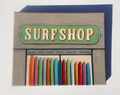 Board Meeting - Surf Shop Surfboards Art Painting