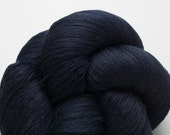 Navy Blue Silk Cotton Recycled Lace Weight Yarn, 1434 Yards Available