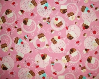 Robert Kaufman Fabric, Cupcake Fabric, By The Yard, Sewing Fabric, Crafting, Summer, Birthday Fabric, Pink Fabric