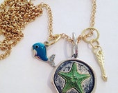 Starfish and Whale Necklace