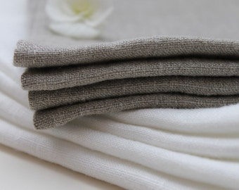 SALE. Linen napkin. Set of 40. Natural, softened linen. Grey.