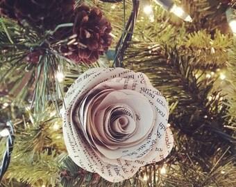 Vintage Style Paper Flower Handmade Ornaments - Set of 4