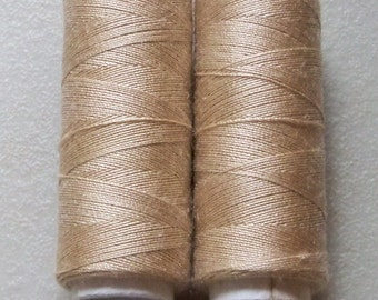 Beige Sewing Thread-Polyester-Coffee Brown