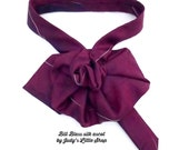 Burgundy Ladies Necktie Scarf, EcoFashion Accessory, OOAK Ascot Scarflette, Bill Blass Tie, Womans Scarf Cravat, Upcycled Necktie necklace