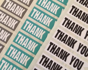 Thank You Flag Banner Stickers Customizable Colors!