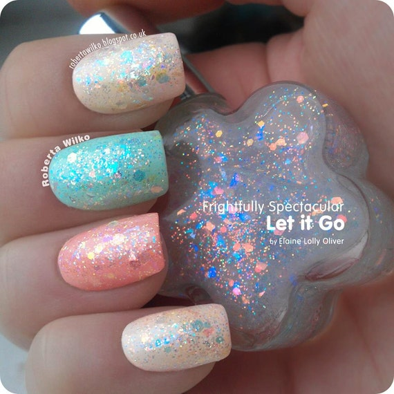 Opalescent Nail Polish: Let It Go Iridescent Indie Nail Polish Topper Top Coat
