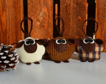 set of four rustic sheep (key ring, gift ideas)