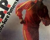 "1980 Stretch Knit Jogging Suit Pattern Simplicity 5066 Miss 10-12-14 Bust 32.5-36"" 80's Retro VELOUR JOGGING SUIT Pattern at WhiletheCatNaps"