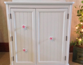 """American Girl Doll: Furniture, Wardrobe, Armoire storage for 18""""  doll clothes"""