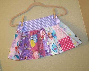 Every Princess skirt-  3t, 4t   -ready to ship - Belle, Cinderella, Disney, Snow White,