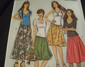 Butterick B5043 Misses Skirts Size 14 to 20 Fashion Express Sewing Pattern Supply Bubble Skirt Gathers Yoke Misses Bubble Skirt Short Long f