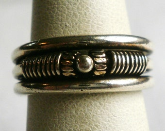 Sterling Silver Band Ring-Size 5 3/4