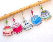 colorful sweater knitter stitch markers, snag free, colorful knitting accessory, fun gift for knitters