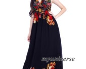 Maxi Dress Evening Gown Black Dress Prom Summer Plus Size Floral Dress Beach Party Wedding Guest Sundress Homecoming Casual Holiday V Neck