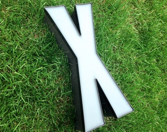 X - Reclaimed Metal letter - 24 inch - XL