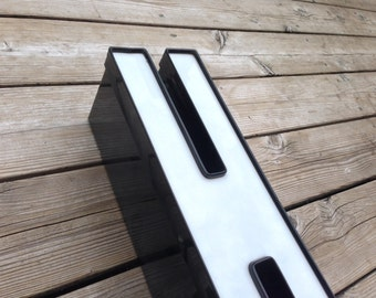 H - Reclaimed Metal letter - 19 inch - XL - SALE