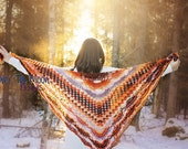 Shawl, Lace shawl, Crochet shawl, prayer shawl,winter accessories, winter wedding shawl, Shell shawl