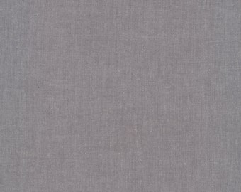 SHADOW Cirrus Solid, Chambray Weight, Crossweave, Yarn Dyed Solid Fabric, 100% GOTS-Certified Organic Cotton, Cloud9 Fabrics, 904
