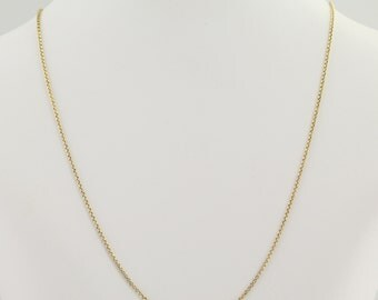 "Rolo Chain Necklace 18"" - 14k Yellow Gold Spring Ring Clasp L9403"