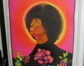 "Reserved for Bevly Please do not purchase if not BevlyBlacklight 1971 ""Black Rose"" Original Vintage Poster"