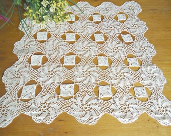 Crocheted Doily Large White Crochet Doily Vintage Doilies Doilies Handmade D1