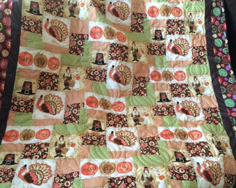 Giving Thanks Throw Quilt