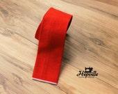 Selvedge Denim Tie - Terracotta
