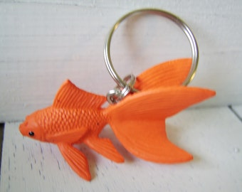 Goldfish Key Chain, Goldfish Key Chain, Fish Key Chain, fish Key Ring, Goldfish, Fish, Pet