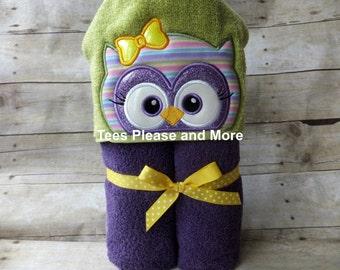 Owl Hooded Towel, Pool Wrap