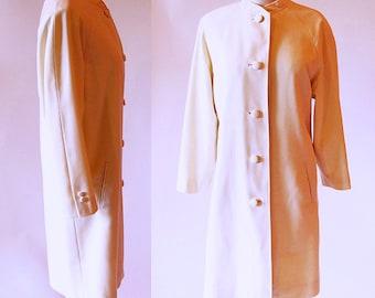 Vintage Mod coat, 60s Coat, Ivory Wool Coat, 1960s Fashion, Wedding Coat, White Coat