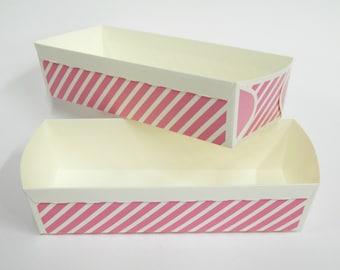 Paper Baking Pan, Paper Loaf Baking Pans, Pink Rectangular Cake Pan, Homemade Food Gift, Party Favor, Bridal Shower, Polka Dot Tray