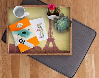 Paris Brunch Tray ~ Eiffel Tower Tray, cocktail serving tray, summer parties, newly wed gift, stylish kitchen decor, hostess party accessory