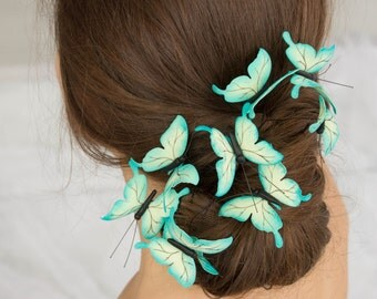 Green Butterflies Comb Wholesale Hair Accessory Decoration Butterflies Crown Bridal Wedding Hair Wedding Bridal Birthday Prom Hair Gifts