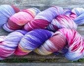 Fine Merino Socks hand dyed yarn hand painted sock yarn: Lavender Garden