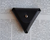Coin Purse, Leather Coin Purse, Black Leather Coin Purse, soft leather