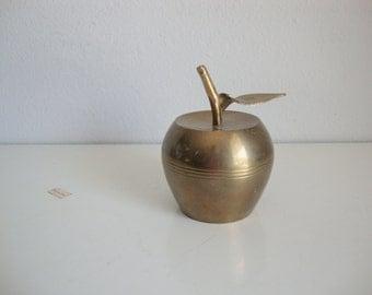 Brass Apple Bell, Vintage Brass Bell, Teacher Gift, Home Decor