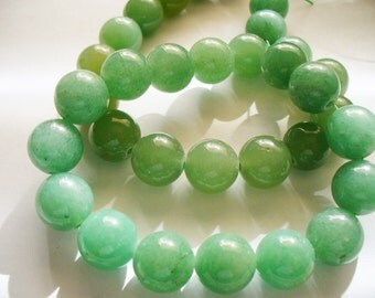 Aventurine Beads Gemstone Green  Round 12mm